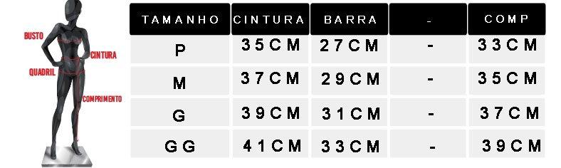 tabela de medidas oficial shorts preto 1805075