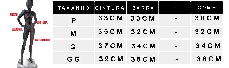 tabela de medidas oficial 2 shorts bege 1805078
